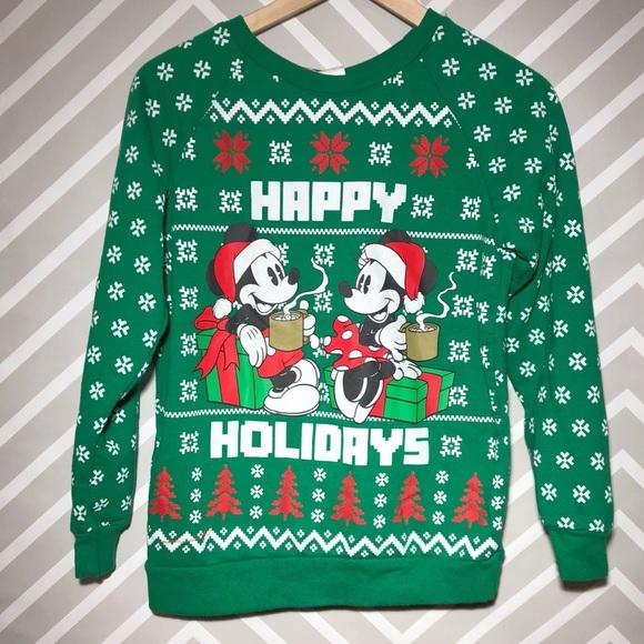 Disney Sweaters Womens S Christmas Sweater Mickey Minnie Poshmark